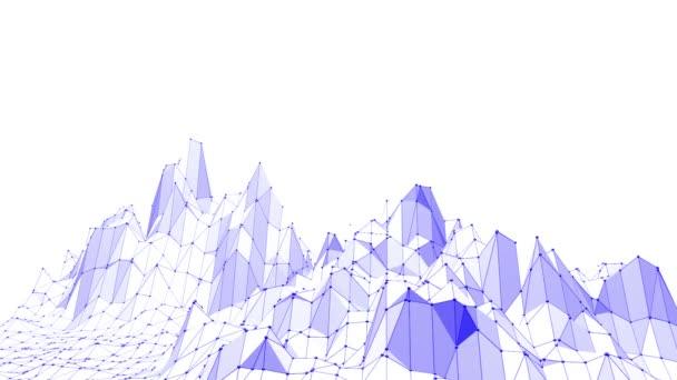 Fialové abstraktní nízké poly mávat povrch jako jedinečné pozadí. Fialové abstraktní geometrické vibrační prostředí nebo Blikající pozadí kreslené nízké poly populární moderní stylový 3d design
