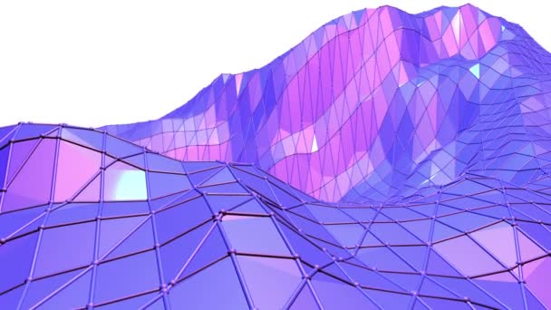 Fialové abstraktní nízké poly mávat povrch jako složitost pozadí. Fialové abstraktní geometrické vibrační prostředí nebo Blikající pozadí kreslené nízké poly populární moderní stylový 3d design