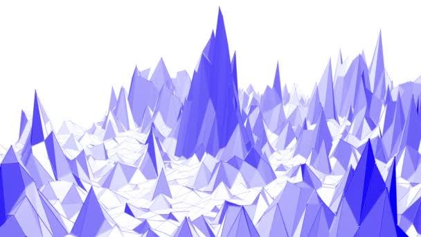 Fialové abstraktní nízké poly mávat povrch jako herní krajiny. Fialové abstraktní geometrické vibrační prostředí nebo Blikající pozadí kreslené nízké poly populární moderní stylový 3d design