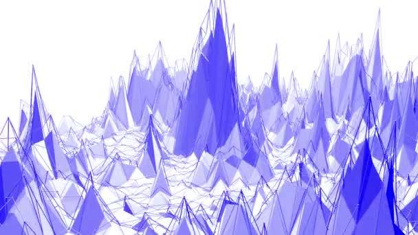 Fialové abstraktní nízké poly mávat povrch jako geometrické sítě. Fialové abstraktní geometrické vibrační prostředí nebo Blikající pozadí kreslené nízké poly populární moderní stylový 3d design