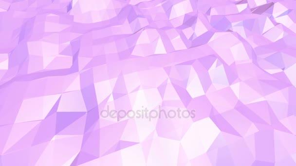 Fialové abstraktní nízké poly mávat povrch jako futuristické kyberprostoru. Fialové abstraktní geometrické vibrační prostředí nebo Blikající pozadí kreslené nízké poly populární moderní stylový 3d design