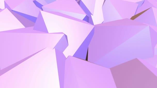Abstraktní nízké poly mávat povrch jako vědecké vizualizace. Fialové abstraktní geometrické vibrační prostředí nebo Blikající pozadí kreslené nízké poly populární moderní stylový 3d design 1