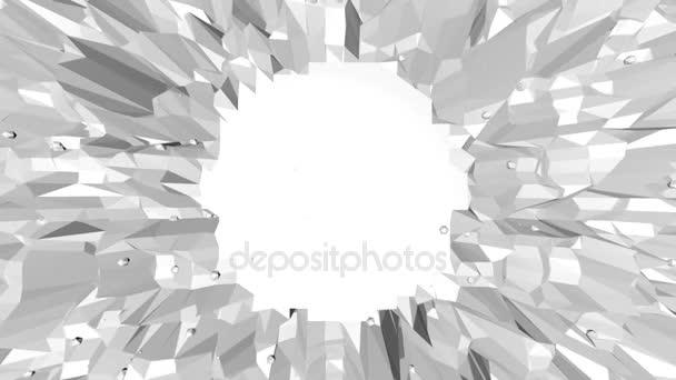abstrakte saubere schwarz-weiße Low-Poly-wellenförmige 3D-Oberfläche als schöner Hintergrund. graue geometrische vibrierende Umgebung oder pulsierender Hintergrund im Cartoon Low-Poly-3D-Design. Freiraum