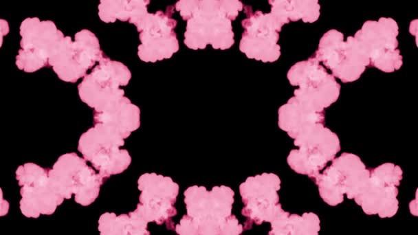 Hintergrund wie rorschach inkblot test14. fluoreszierende rosa Tinte oder Rauch, isoliert auf Schwarz in Zeitlupe. Farbtropfen im Wasser. für Alpha-Kanal Luma matt als Alpha-Maske verwenden