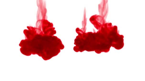 Zár-megjelöl szemcsésedik. Piros festék, bontó, vízben és a lassú mozgás mozog. A koromsötét háttér vagy füst vagy szabadkézi hatásokkal hátteret, alfa-csatornát a hasznát luma Matt