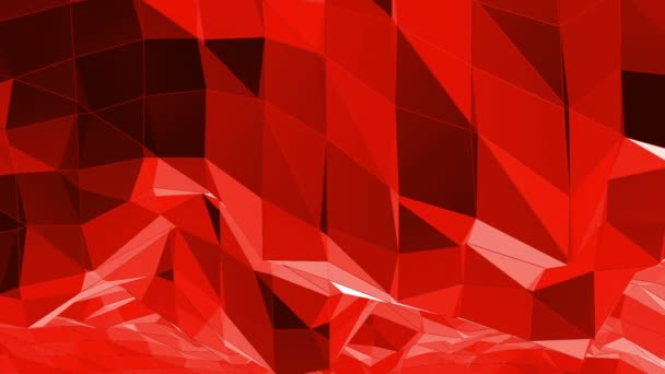Abstract red low poly surface as Cartoon modern background in stylish low poly design. Polygonal mosaic background with vertex, spikes. Red low poly background waving. Cartoon modern 3D design