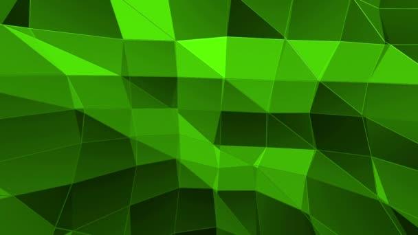 Zelené nízké poly pozadí pulzující. Abstraktní nízké poly povrch jako futuristické prostředí stylové nízké poly design. Polygonální mozaiku pozadí s vertex, hroty. Super moderní 3d design