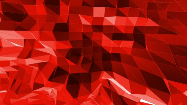 Abstract red low poly surface as dream background in stylish low poly design. Polygonal mosaic background with vertex, spikes. Red low poly background waving. Cartoon modern 3D design.
