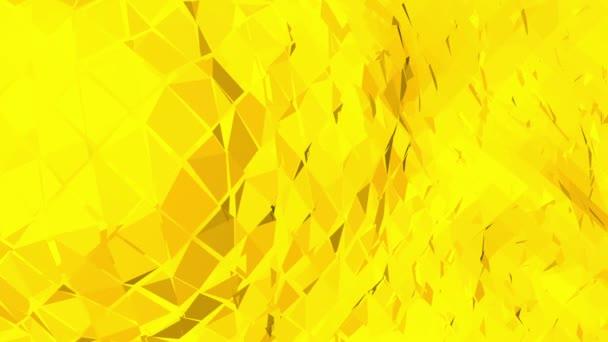 Sárga alacsony poly háttér oszcilláló. Absztrakt alacsony poly felülete, mint a táj vagy design elegáns alacsony poly molekuláris szerkezete. Sokszögű mozaik háttér vertex, tüskék. Modern 3D-s tervezés.
