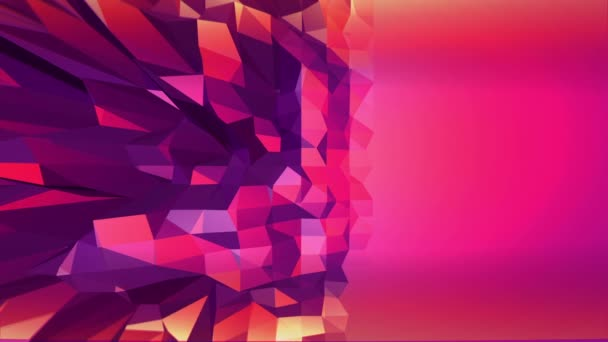 Fialové abstraktní nízké poly mávat povrch jako fantasy prostředí. Fialové abstraktní geometrické vibrační prostředí nebo Blikající pozadí v kreslené nízké poly populární moderní stylový 3d designfree prostoru