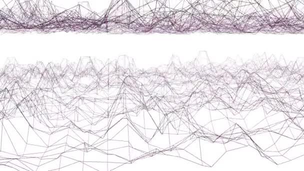 Egyszerű lila integetett a 3D-s háló absztrakt vagy háló, divatos háttér. Lila geometriai, vibráló környezet, vagy lüktető matematikai háttér