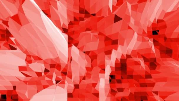 Abstraktní červené nízké poly povrch jako krajinu nebo crystal strukturu stylové nízké poly design. Polygonální mozaiku pozadí s vertex, hroty. Červené nízké poly pozadí mávat. Kreslený moderní 3d design