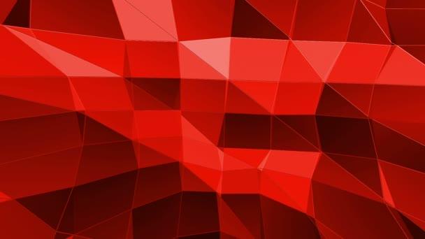 Abstraktní červené nízké poly povrch jako kreslené pozadí v elegantní nízké poly design. Polygonální mozaiku pozadí s vertex, hroty. Červené nízké poly pozadí mávat. Kreslený moderní 3d design