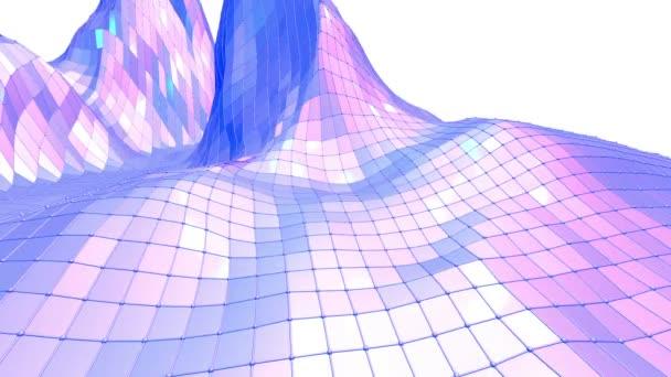 Fialové abstraktní nízké poly mávat povrchu prostoru pozadí. Fialové abstraktní geometrické vibrační prostředí nebo Blikající pozadí kreslené nízké poly populární moderní stylový 3d design. Volné místo