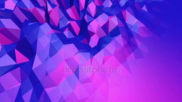 Fialové abstraktní nízké poly mávat povrch jako čisté pozadí. Fialové abstraktní geometrické vibrační prostředí nebo Blikající pozadí kreslené nízké poly populární moderní stylový 3d design. Volné místo