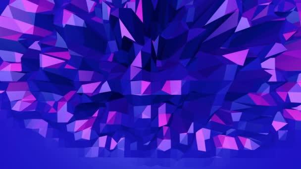 Fialové abstraktní nízké poly mávat povrch jako nádherné pozadí. Fialové abstraktní geometrické vibrační prostředí nebo Blikající pozadí kreslené nízké poly stylový 3d design. Volné místo