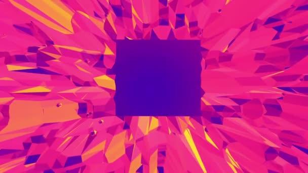 Fialové abstraktní nízké poly mávat povrch jako cyber pozadí. Fialové abstraktní geometrické vibrační prostředí nebo Blikající pozadí kreslené nízké poly populární moderní stylový 3d design. Volné místo