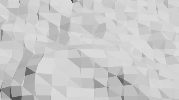 Astratto bianco e nero pulito basso poli ondeggiante superficie 3d come sfondo alla moda. Ambiente vibrante geometrico grigio o pulsante sfondo cartone animato poli basso popolare 3d dal design elegante