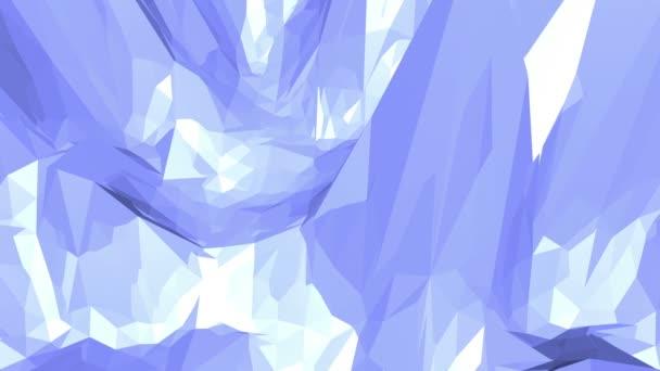 Modré nízké poly h. povrch jako prostor prostředí. Modrá polygonální geometrické měnící prostředí nebo Blikající pozadí kreslené nízké poly populární moderní stylový 3d design.
