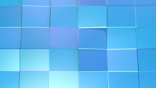 Abstract simple blue violet low poly 3D surface as surreal terrain. Soft geometric low poly motion background of shifting pure blue violet polygons. 4K Fullhd seamless loop background
