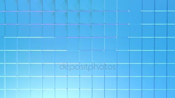 Abstraktní jednoduché modré fialové nízké poly 3d povrch jako fantasy pozadí. Měkký geometrické nízké poly pohybu pozadí posunu čistě modré fialové mnohoúhelníky. 4 k Fullhd bezešvé smyčka pozadí