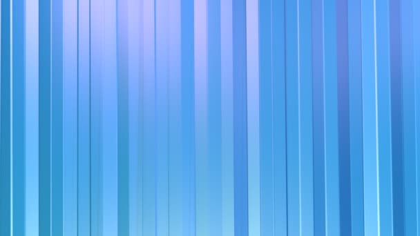 Abstract simple blue violet low poly 3D curtains as mathematical visualization. Soft geometric low poly motion background of shifting pure blue violet polygons. 4K Fullhd seamless loop background