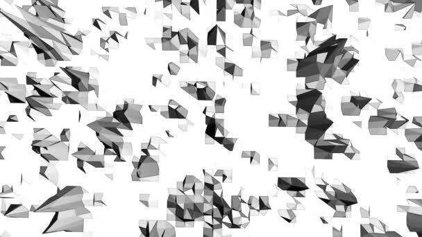 Absztrakt tiszta fekete-fehér alacsony poly integetett 3d felszín, divat háttérként. Szürke geometriai vibráló környezet vagy lüktető háttér rajzfilm alacsony poly népszerű stílusos 3d design.