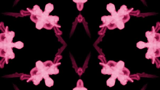 Background like Rorschach inkblot test8. Fluorescent pink ink or smoke, isolated on black in slow motion. Pink dye mixes in water. For alpha channel use luma matte as alpha mask