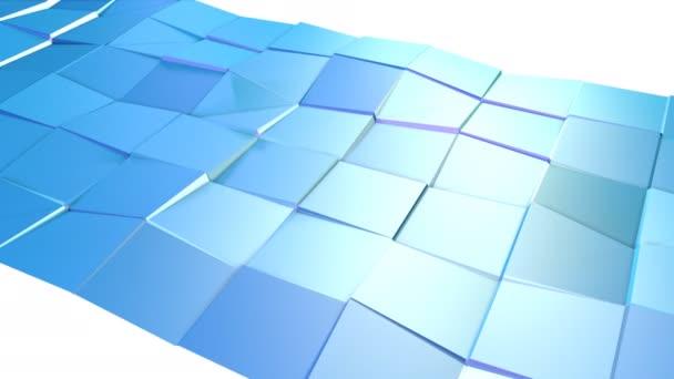 Abstraktní jednoduché modré fialové nízké poly 3d povrch jako kreslené pozadí. Měkký geometrické nízké poly pohybu pozadí s čistě modré fialové mnohoúhelníky. 4 k Fullhd bezešvé smyčka pozadí