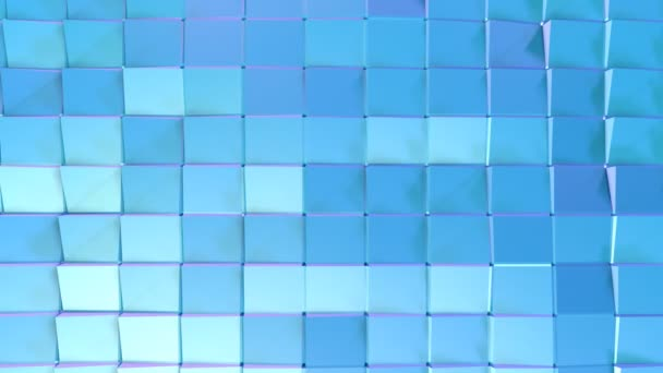 Abstract simple blue violet low poly 3D surface as beautiful background. Soft geometric low poly motion background of shifting pure blue violet polygons. 4K Fullhd seamless loop background