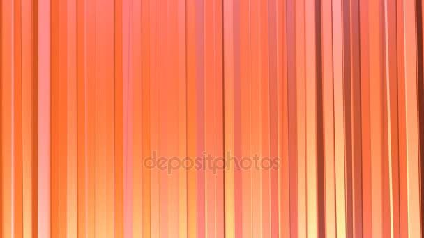 Abstract simple pink orange low poly 3D curtains. Soft geometric low poly motion background of shifting pure pink orange red polygons. 4K Fullhd seamless loop background 2
