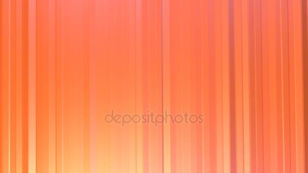 Absztrakt egyszerű rózsaszín narancssárga alacsony poly 3d függönyök, mint háttér. Lágy geometrikus alacsony poly mozgás háttérben változó tiszta rózsaszín narancssárga piros sokszögek. 4 k Fullhd varrat nélküli hurok háttér