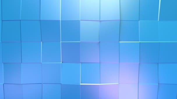 Abstraktní jednoduché modré fialové nízké poly 3d povrch jako luxusní prostředí. Měkký geometrické nízké poly pohybu pozadí posunu čistě modré fialové mnohoúhelníky. 4 k Fullhd bezešvé smyčka pozadí