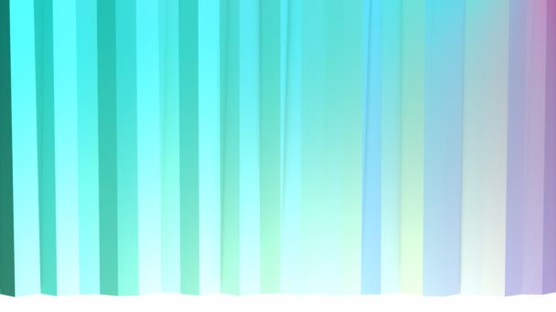 Abstract simple blue violet low poly 3D curtains as simple backdrop. Soft geometric low poly motion background of shifting pure blue violet polygons. 4K Fullhd seamless loop background