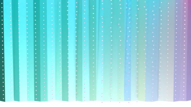 Abstract simple blue pink low poly 3D curtains and flying white crystals as clear backdrop. Soft geometric low poly background of pure blue pink polygons. 4K Fullhd seamless loop background.