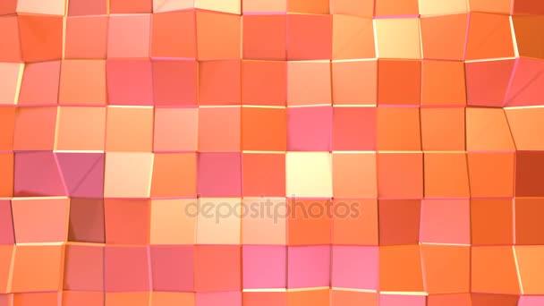 8daf2776c924 Superficie 3d poly baja naranja rosado simple abstracto como telón de fondo  brillante. Fondo de movimiento suave polivinílico baja geométrica de ...