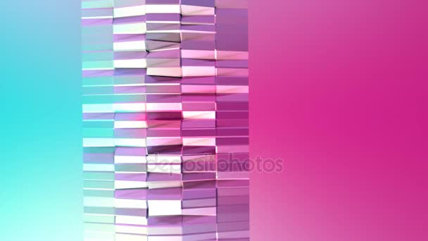 Abstract simple blue pink low poly 3D surface as futuristic environment. Soft low poly motion background of shifting pure blue pink polygons. 4K Fullhd seamless loop background with copy space 6