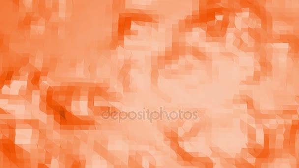 Polygonální digitální mozaika posunu prostředí nebo transformaci zářící pozadí. Oranžové nízké poly povrch jako módní transformuje zářící pozadí.