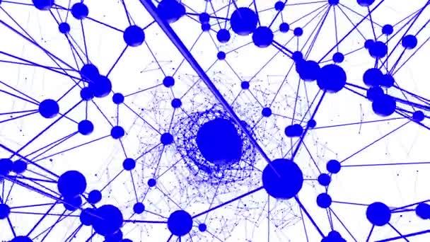 Abstraktní modré mává 3d mřížky nebo mesh pulsující geometrických objektů. Slouží jako abstraktní prostor prostředí. Geometrické, vibrační prostředí nebo pulsující matematiku nebo chemických pozadí modrá