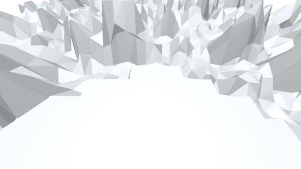 Abstraktní černá a bílá nízká poly mávat 3d povrch jako krajinu nebo videohry. Šedá abstraktní geometrické vibrační prostředí nebo Blikající pozadí. Volné místo
