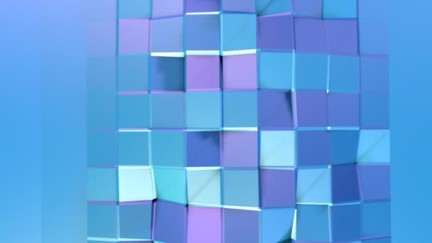 Abstract simple blue violet low poly 3D surface as fractal background. Soft geometric low poly motion background with pure blue violet polygons. 4K Fullhd seamless loop background