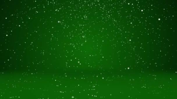 Sníh padat a usadit se na povrchu. Zelená zimní pozadí jako místo pro reklamu nebo logo, Vánoce nebo nový rok karty. Bezproblémové cyklických pozadí s Dof, kopie prostor 2