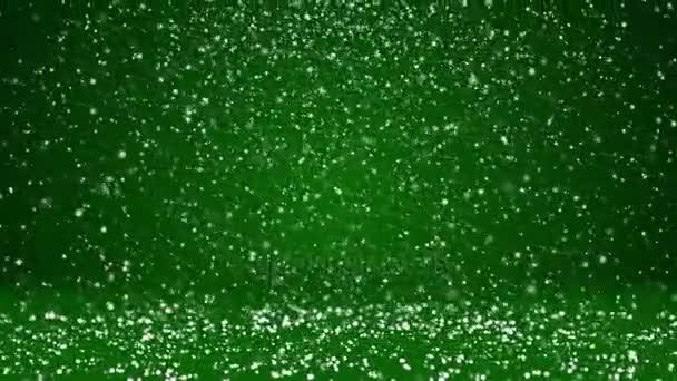 Sníh padat a usadit se na povrchu rotující. Zelená zimní pozadí jako místo pro reklamu nebo logo, Vánoce nebo nový rok karty. Bezproblémové cyklických pozadí s Dof, kopie prostor 4