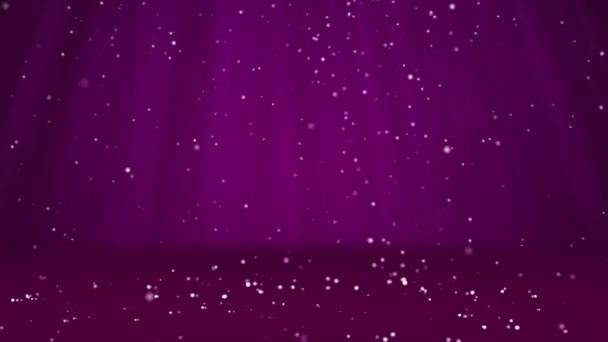 Sníh padat a usadit se na povrchu. Fialová zimní pozadí jako místo pro reklamu nebo logo, Vánoce nebo nový rok karty. Bezproblémové cyklických pozadí s Dof, kopie prostor, světlo paprsky 1