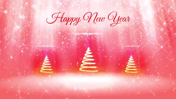 light composition for new year background with 3d christmas three tree from glitter particles and sparkles