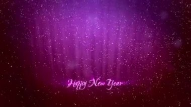 Elegant christmas new year greeting card stock video spidey888 christmas or new year greeting card 6 glowing winter purple background with snowfall and rays like the northern lights use it as m4hsunfo