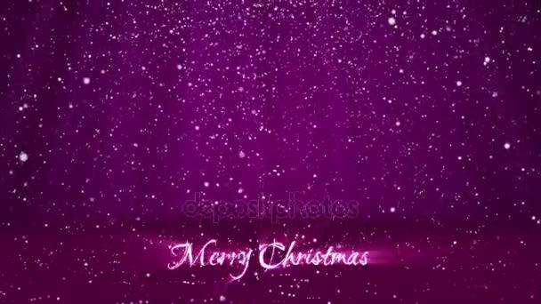 Sníh padat a usadit se na povrchu. Fialová zimní pozadí jako místo pro reklamu nebo logo, Vánoce nebo nový rok karty. Bezproblémové cyklických pozadí s Dof, kopie prostor, světlo paprsky 2