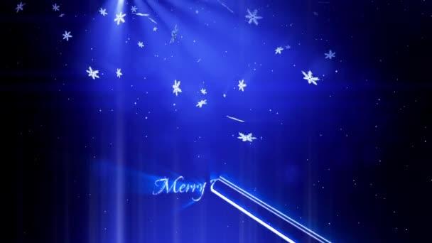 gyönyörű 3D-s hópelyhek eső éjszaka egy kék háttér. Használja az animált karácsonyi, újévi kártya vagy a téli téma vagy a háttér nagy hópelyhek, lencse fényfolt, bokeh. Hópehely V8