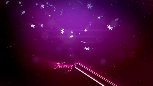 krásné 3d vločky létání ve vzduchu v noci na fialovém pozadí. Použít jako animovaný vánoční, novoroční přání nebo zimní téma nebo pozadí s velkým sněhové vločky, odlesk objektivu, bokeh. Sněhová vločka V8