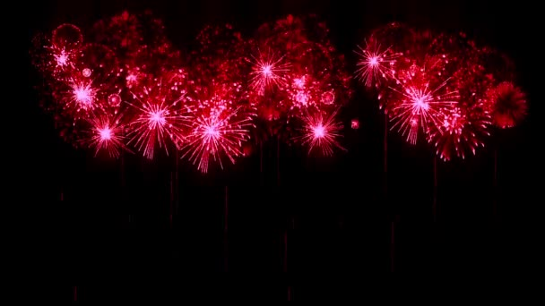 Red Fireworks As Holidays Background For New Year Christmas Or Other Celebration Fireworks Show Are Isolated On Black For Compositing 3d Animation Pyrotechnic Light Show 9